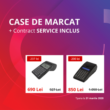 Case de marcat cu jurnal electronic & Contract SERVICE Inclus. Oferta FISCALONLINE
